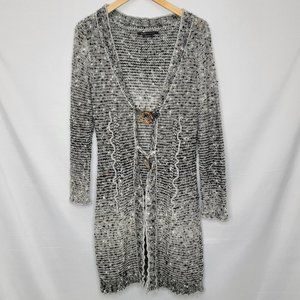 BCBGMaxazria Long Knitted Cardigan Two Button